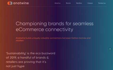 Screenshot of Home Page anatwine.com - Anatwine | The future of Online Retail - captured June 30, 2019