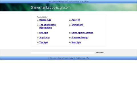 Shawshankappdesign.com