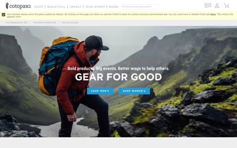This is Cotopaxi. This is Gear For Good.