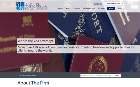 Screenshot of About Page visaattorneys.com - About The Firm   Immigration Miami - Visa Attorneys - Lawyers Firm - captured Oct. 5, 2014