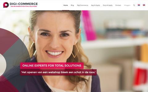 Screenshot of Home Page digi-commerce.nl - Home - Digi-Commerce - captured Sept. 10, 2015