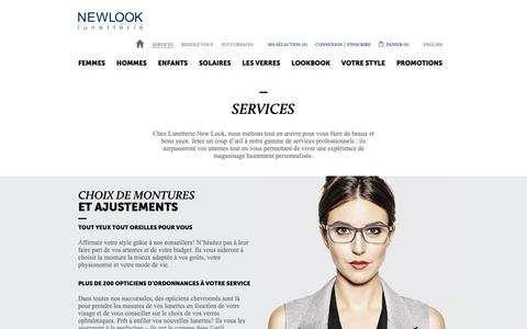 Screenshot of Services Page newlook.ca - Services | Lunetterie New Look - captured Oct. 24, 2018