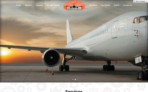 Screenshot of Services Page airfleetmanagers.com - Services | Airfleet Managers - captured Oct. 2, 2018