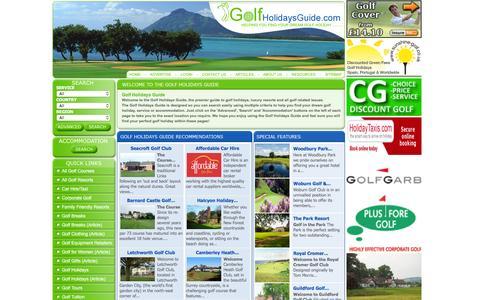 Screenshot of Home Page golfholidaysguide.com - Golf Holidays Guide - captured June 13, 2016