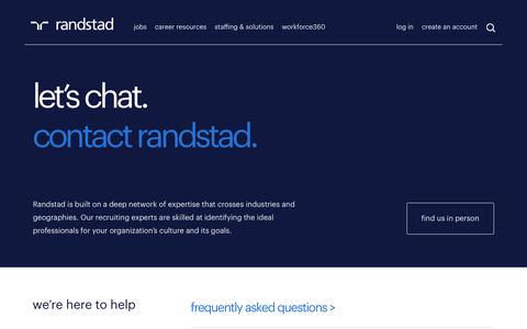 Contact Us | Randstad USA