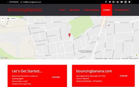 Screenshot of Contact Page bouncingbanana.com - Contact Our Team At Bouncingbanana Agency - captured June 3, 2017