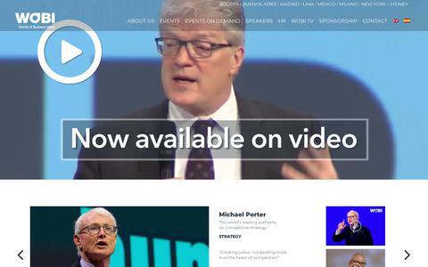 Screenshot of Home Page wobi.com - WOBI | WOBI - World Of Business Ideas - captured June 4, 2018