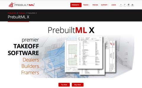 Screenshot of Trial Page prebuiltml.com - Premier Construction Takeoff Software | PrebuiltML X - captured July 20, 2018