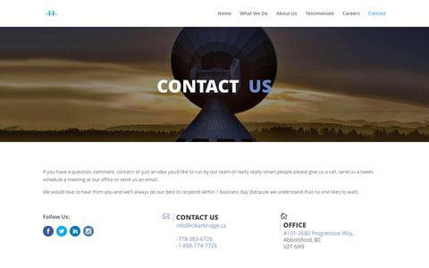 Contact | Clearbridge