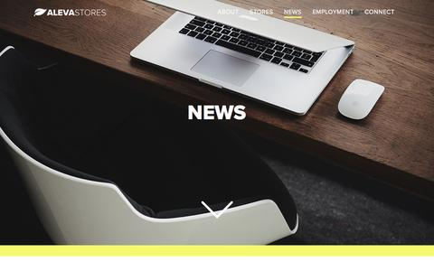 Screenshot of Press Page alevastores.com - News – Aleva Stores - captured July 29, 2018