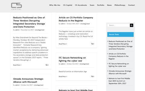 Screenshot of Press Page c5capital.com - News - C5 Capital - captured Nov. 21, 2017