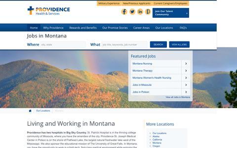 Screenshot of Home Page providence-montana.jobs - Providence Montana Jobs - captured Sept. 3, 2015
