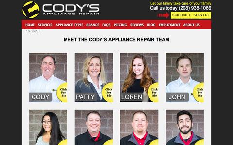 Screenshot of About Page codysappliancerepair.com - Meet Cody's Appliance Repair Staff | Professional Appliance Repair - captured May 19, 2017