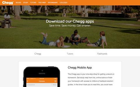 Screenshot of chegg.com - Textbooks and Solutions On Your Phone | Chegg.com - captured April 8, 2016
