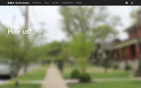Screenshot of Home Page scuttlenerdery.com - Scuttle Nerdery - captured Sept. 30, 2014