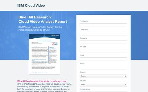 Screenshot of Landing Page ustream.tv - Blue Hill Research: Cloud Video Analyst Report | IBM Cloud Video - captured Feb. 7, 2017