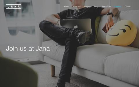 Jana | Careers