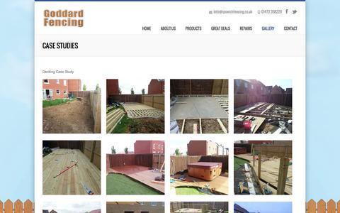 Screenshot of Case Studies Page ipswichfencing.co.uk - Case Studies | Ipswich Fencing - captured Oct. 2, 2014