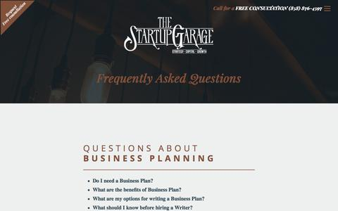 Frequently Asked Questions About The Startup Garage