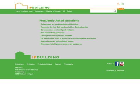 Screenshot of FAQ Page ipbuilding.be - FAQ Archive - IPBuilding - captured Oct. 4, 2014