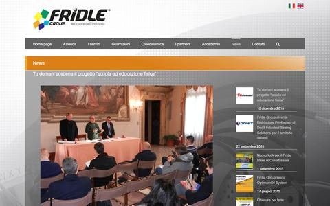 Screenshot of Press Page fridle.it - Notizie Fridle: guarnizioni sistemi di tenuta, prodotti, distribuzione - captured Jan. 30, 2016