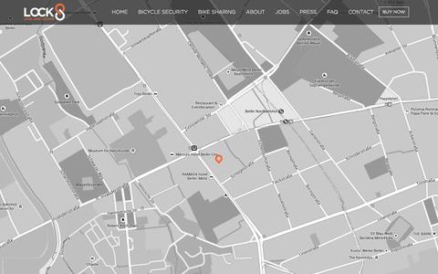 Screenshot of Contact Page lock8.me - LOCK8 - Smart Bike Lock | Bike GPS Tracking | Bike Lock Alarm - captured Oct. 28, 2014