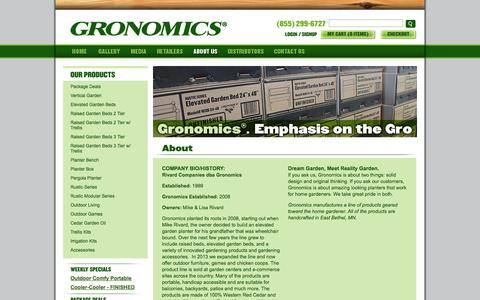 Screenshot of About Page gronomics.com - Gronomics - captured Sept. 19, 2014