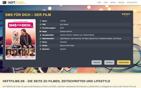 Screenshot of Home Page heftfilme.de - Heftfilme.de » Film Reviews, Zeitschriften mit DVD & online Magazin - captured Dec. 6, 2018