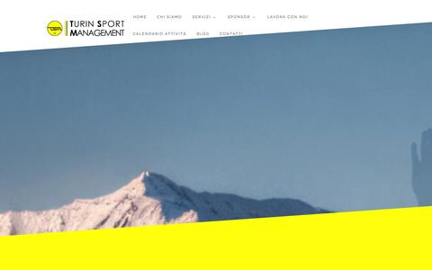Screenshot of Home Page turinsportmanagement.eu - Turin Sport Management - captured Oct. 7, 2014
