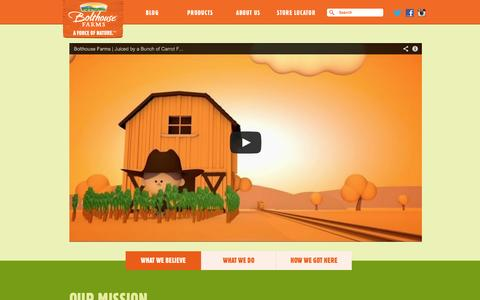Screenshot of About Page bolthouse.com - Bolthouse Farms - ABOUT US - captured Sept. 25, 2014
