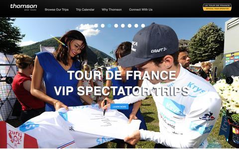 Screenshot of Home Page thomsonbiketours.com - Bike tours, cycling tours, bicycling tours from Thomson Bike Tours - captured Dec. 23, 2016