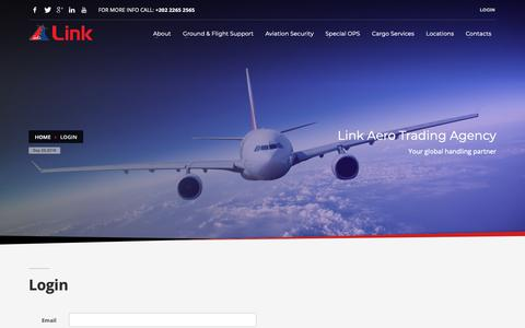 Screenshot of Login Page linkagency.com - Login - Link Aero Trading Agency - captured Sept. 29, 2018