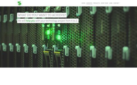 Screenshot of Services Page sagacify.com - Services   Sagacify - captured Sept. 30, 2014