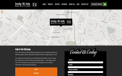 Screenshot of Site Map Page indynink.co.uk - Sitemap - Indy N Ink - captured Oct. 6, 2014