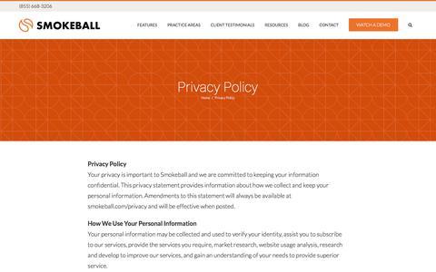 Privacy Policy - Smokeball