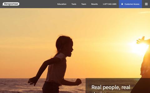 Screenshot of Testimonials Page response.com - Customer Testimonials - Listen to Their Stories - Response.com - Response - captured July 7, 2018