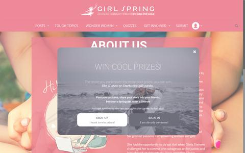 Screenshot of About Page girlspring.com - About Us | GirlSpringGirlSpring - captured July 19, 2018