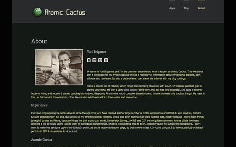 Screenshot of About Page atomic-cactus.com - Atomic Cactus   –  About - captured Sept. 30, 2014