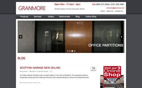 Screenshot of Blog granmore.com - Blog - Granmore - captured Feb. 1, 2016