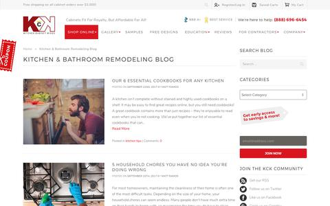 Screenshot of Blog kitchencabinetkings.com - Kitchen & Bathroom Remodeling Blog - Kitchen Cabinet Kings Blog - captured Sept. 28, 2017