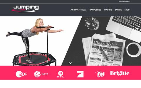 Screenshot of Press Page jumping.fitness - media | Jumping Fitness – International - captured March 15, 2017