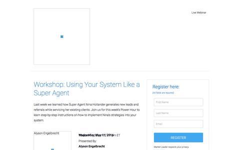 Screenshot of Landing Page marketleader.com captured June 22, 2016