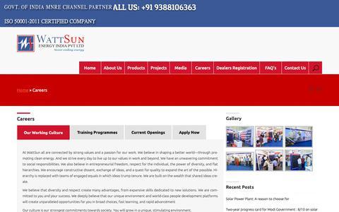 Screenshot of Jobs Page wattsun.in - Business Development Manager | WATTSUN ENERGY - captured Oct. 19, 2018