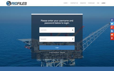 Screenshot of Login Page rigfiles.com - Login - RigFiles.com - captured July 9, 2018