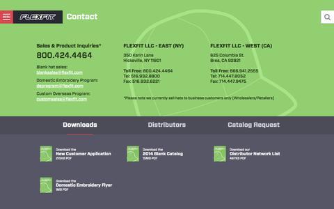 Screenshot of Contact Page flexfit.com - Contact - Flexfit - captured Nov. 3, 2014