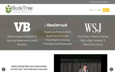 Screenshot of Press Page bodetree.com - BodeTree - captured Oct. 28, 2014