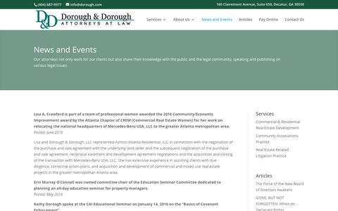 Screenshot of Press Page dorough.com - News and Events | Dorough & Dorough - captured Oct. 12, 2017