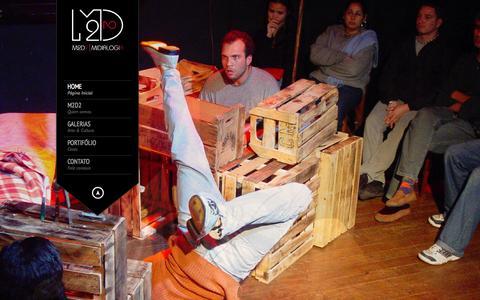 Screenshot of Home Page m2d2.com.br - M2D2 MIDIALOGIA | GESTAO PROJETOS COMUNICACAO - captured Oct. 3, 2014