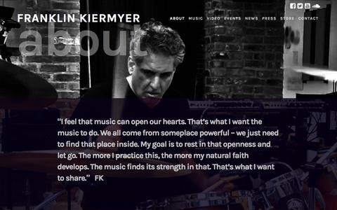 Screenshot of About Page kiermyer.com - About - FRANKLIN KIERMYER - captured Jan. 22, 2017