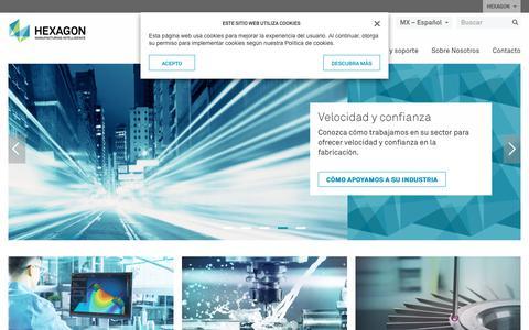 Screenshot of hexagonmi.com - Hexagon Manufacturing Intelligence | Hexagon Manufacturing Intelligence - captured Oct. 21, 2018